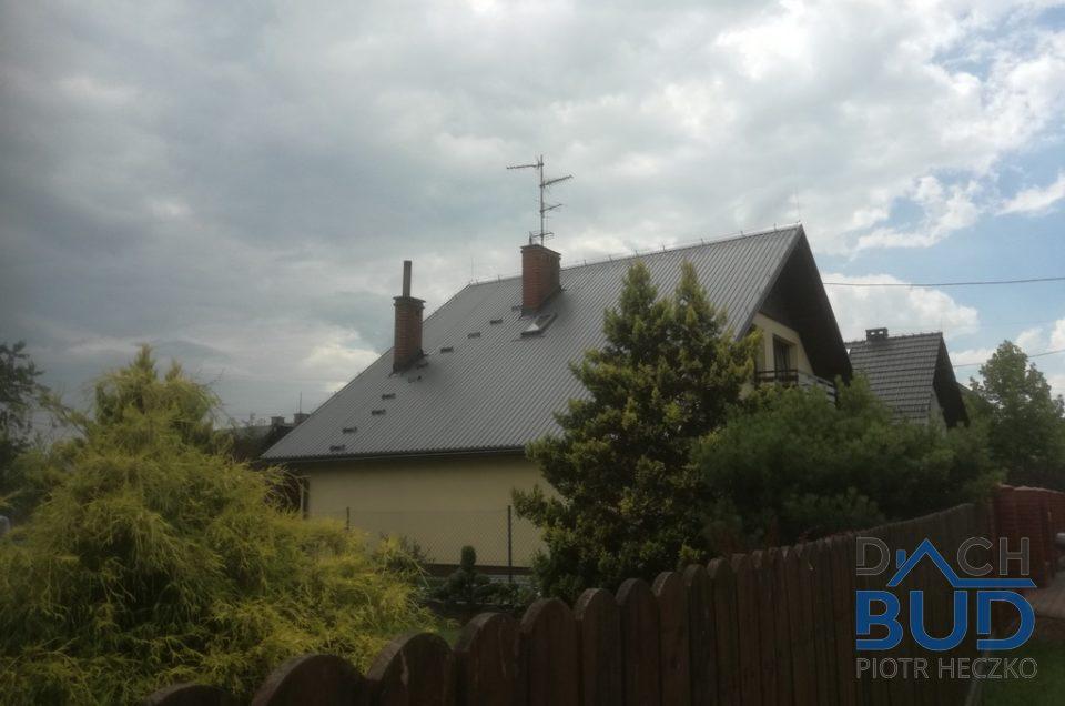Dom przykryty blachą trapezową Ruukki w Czechowicach-Dziedzicach