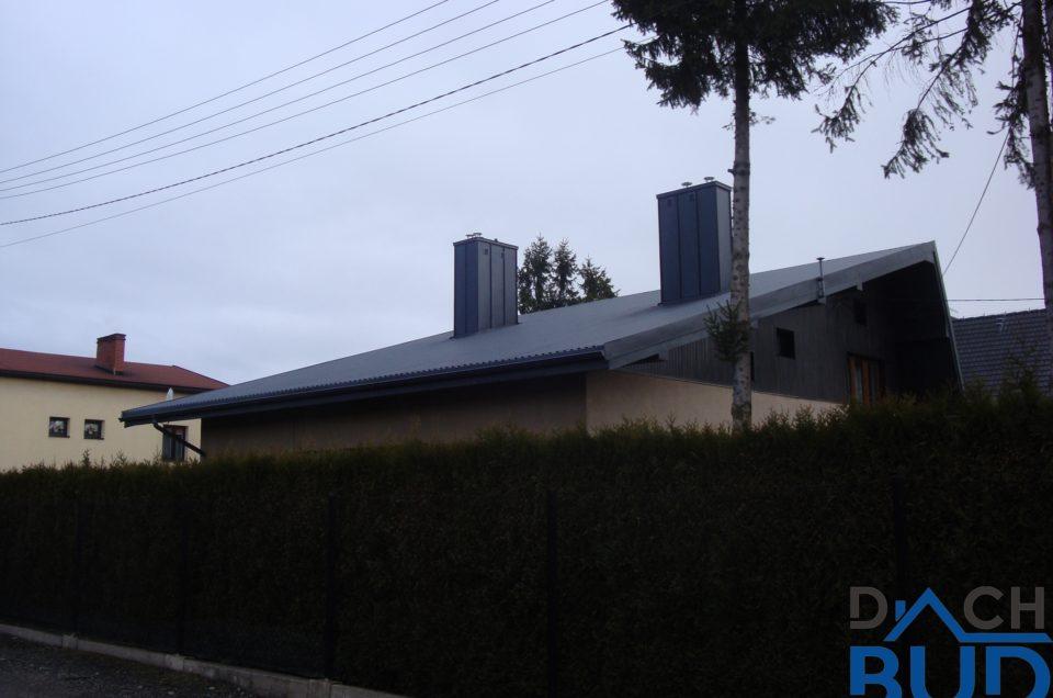 Dom przykryty blachą trapezową Ruukki w Ligocie